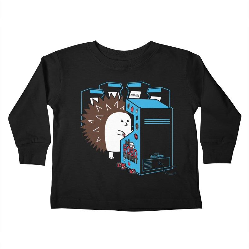 Duncan the Hedgehog Arcade Kids Toddler Longsleeve T-Shirt by Robo Roku