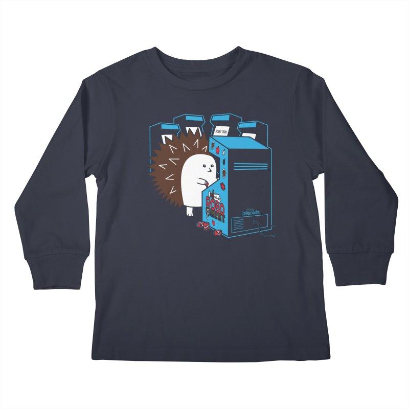 Duncan the Hedgehog Arcade Kids Longsleeve T-Shirt by Robo Roku