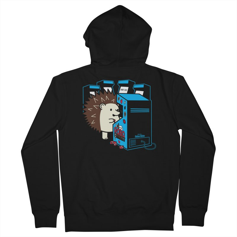 Duncan the Hedgehog Arcade Men's Zip-Up Hoody by Robo Roku