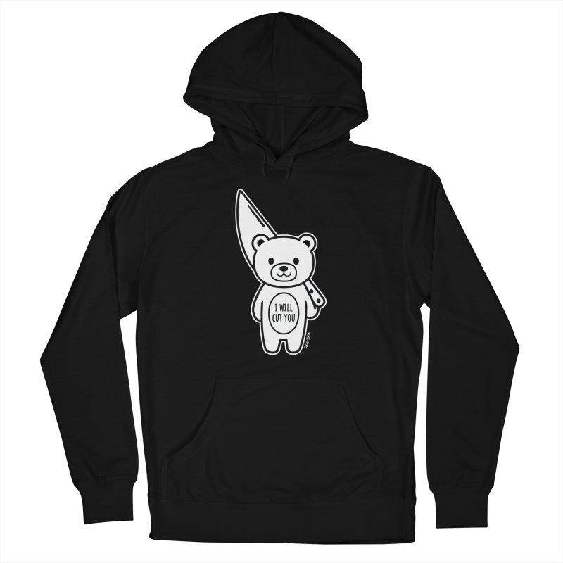 I Will Cut You Bear Men's Pullover Hoody by Robo Roku