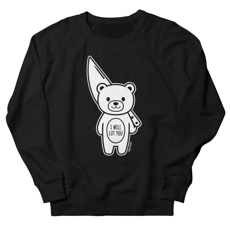 I Will Cut You Bear Men's French Terry Sweatshirt by Robo Roku