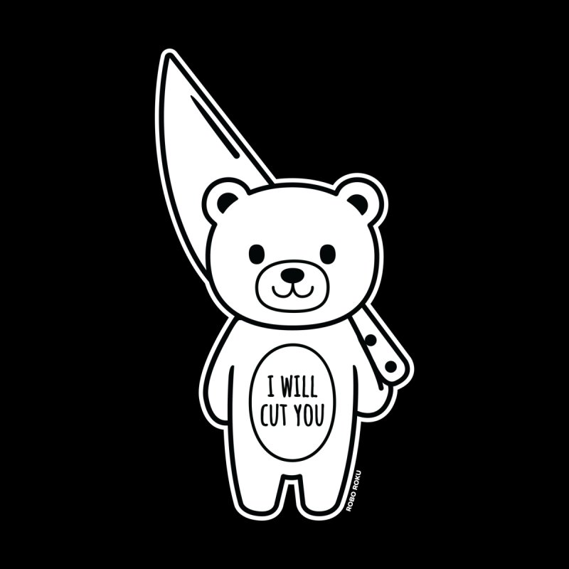 I Will Cut You Bear Men's Sweatshirt by Robo Roku