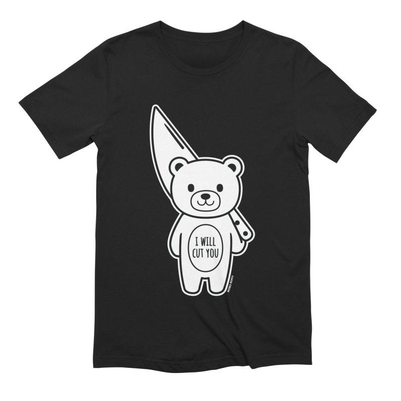 I Will Cut You Bear Men's T-Shirt by Robo Roku