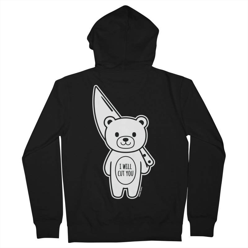 I Will Cut You Bear Men's Zip-Up Hoody by Robo Roku