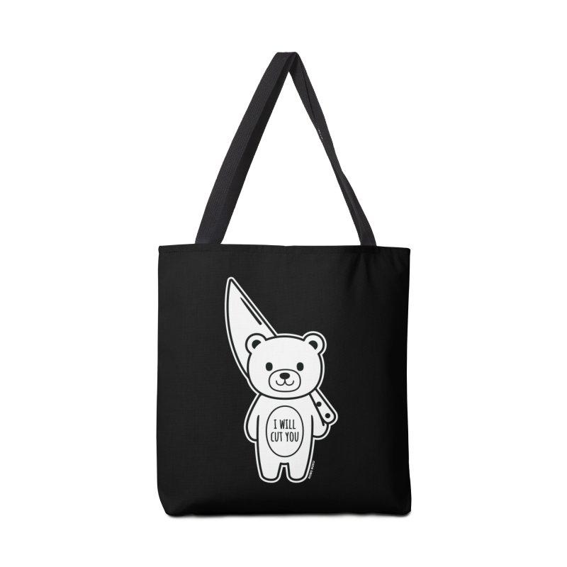I Will Cut You Bear Accessories Bag by Robo Roku