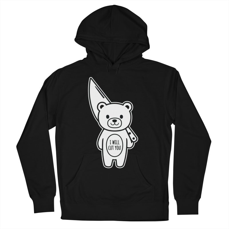 I Will Cut You Bear Men's French Terry Pullover Hoody by Robo Roku