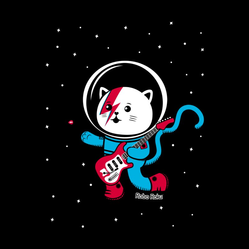 Major Tom Cat (Space Oddity Variant) Men's Zip-Up Hoody by Robo Roku