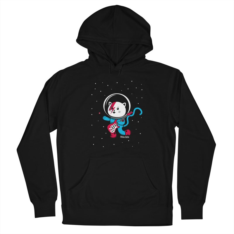 Major Tom Cat (Space Oddity Variant) Men's Pullover Hoody by Robo Roku