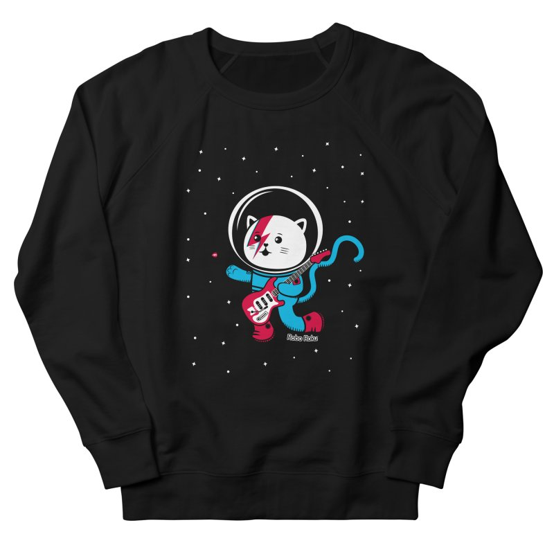 Major Tom Cat (Space Oddity Variant) Women's French Terry Sweatshirt by Robo Roku