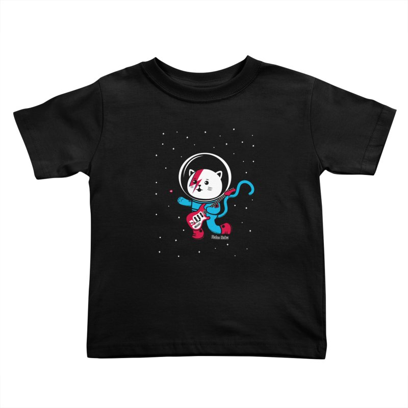 Major Tom Cat (Space Oddity Variant) Kids Toddler T-Shirt by Robo Roku