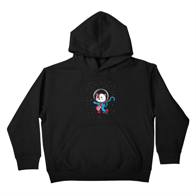 Major Tom Cat (Space Oddity Variant) Kids Pullover Hoody by Robo Roku