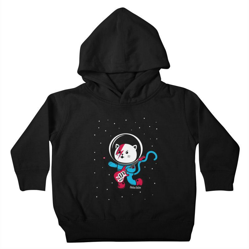 Major Tom Cat (Space Oddity Variant) Kids Toddler Pullover Hoody by Robo Roku
