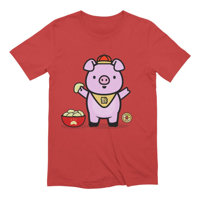 Year of the Pig - Fú the Pig Men's T-Shirt by Robo Roku