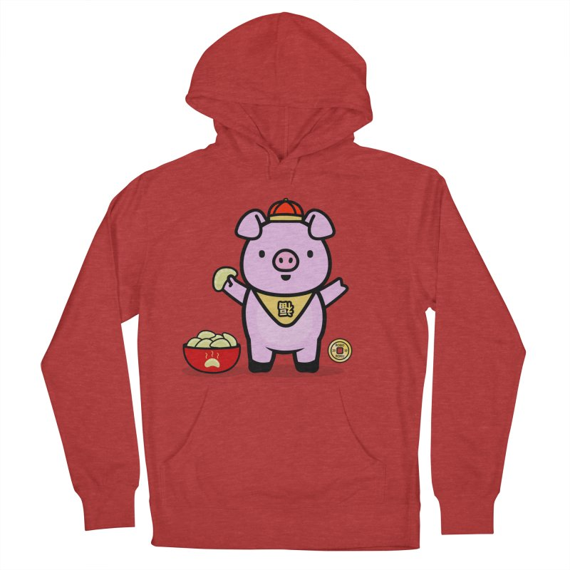 Year of the Pig - Fú the Pig Men's French Terry Pullover Hoody by Robo Roku
