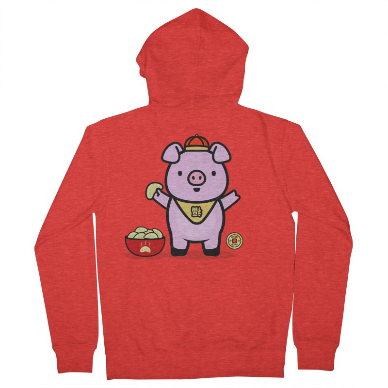 Year of the Pig - Fú the Pig Men's Zip-Up Hoody by Robo Roku