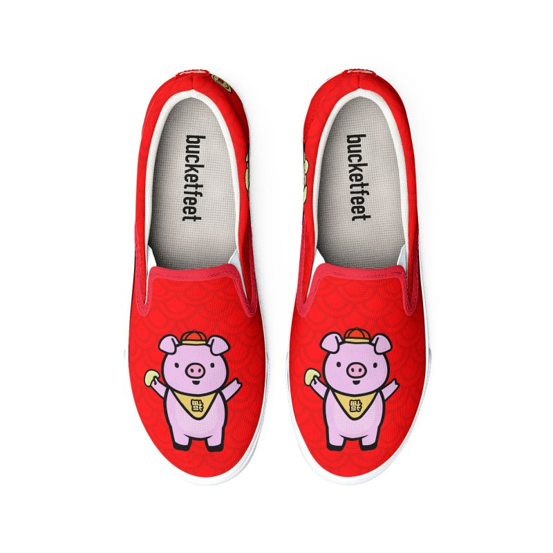 Year of the Pig - Fú the Pig Men's Shoes by Robo Roku