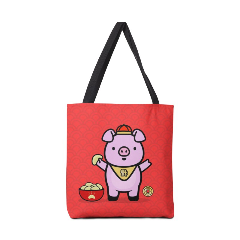 Year of the Pig - Fú the Pig Accessories Tote Bag Bag by Robo Roku