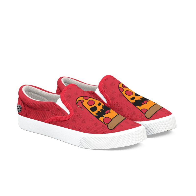 Pizza Life - Pepperoni Pete Women's Slip-On Shoes by Robo Roku