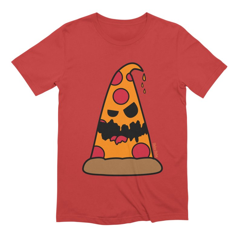 Pizza Life - Pepperoni Pete Men's Extra Soft T-Shirt by Robo Roku