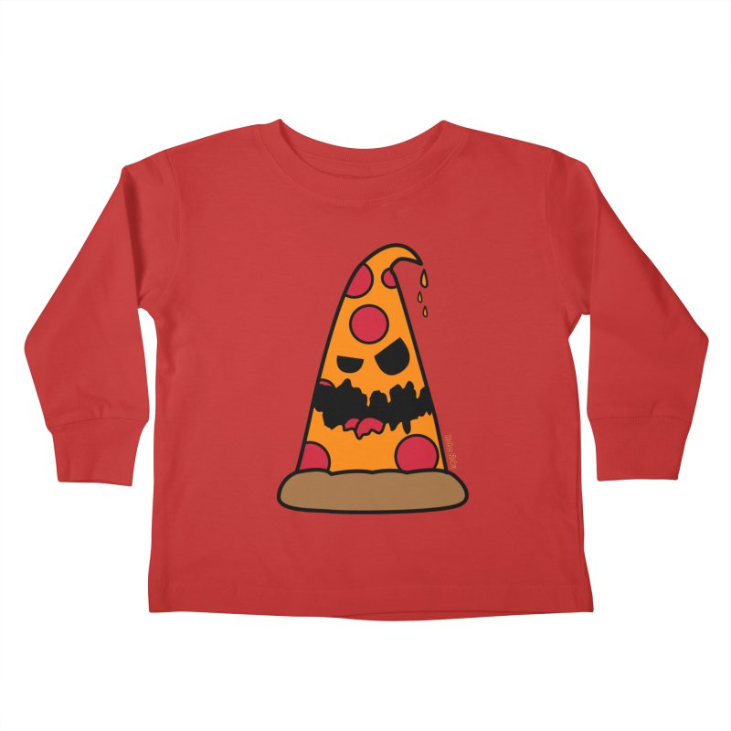 Pizza Life - Pepperoni Pete Kids Toddler Longsleeve T-Shirt by Robo Roku