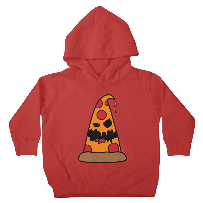 Pizza Life - Pepperoni Pete Kids Toddler Pullover Hoody by Robo Roku
