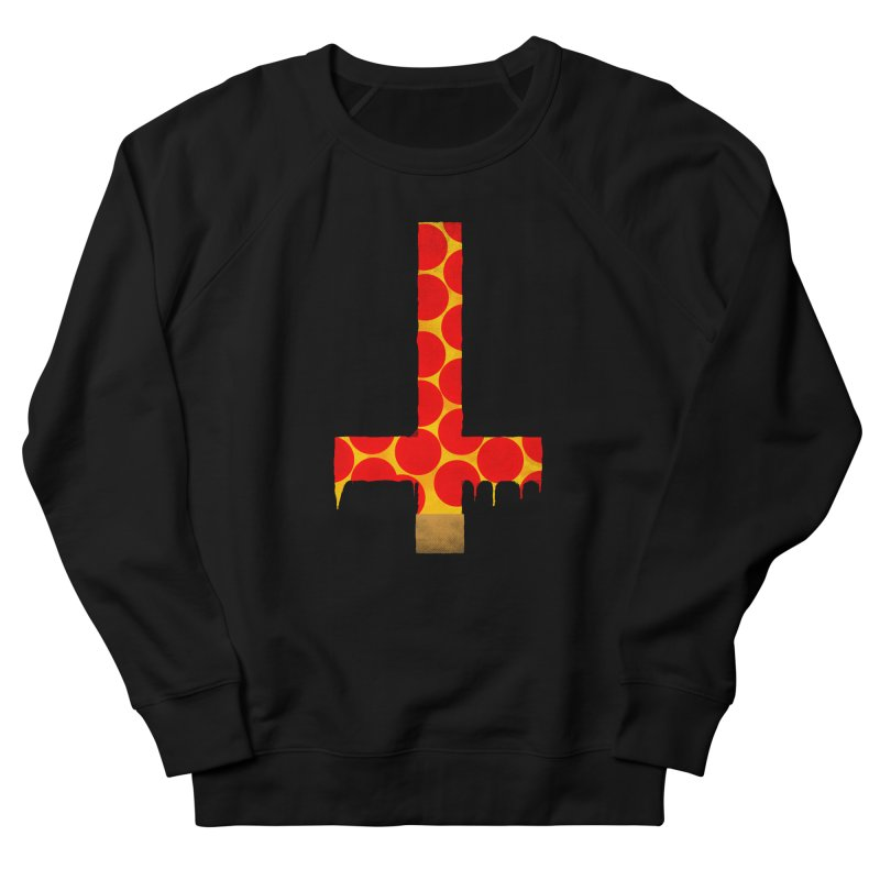 Hail Pizza Cross Women's Sweatshirt by Robotboot Artist Shop