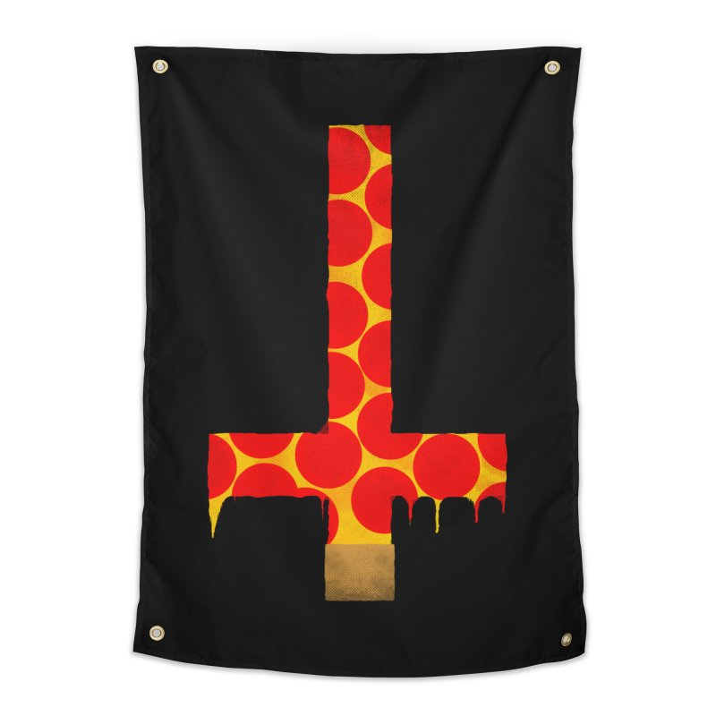 Hail Pizza Cross Home Tapestry by Robotboot Artist Shop