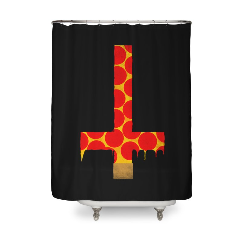 Hail Pizza Cross Home Shower Curtain by Robotboot Artist Shop