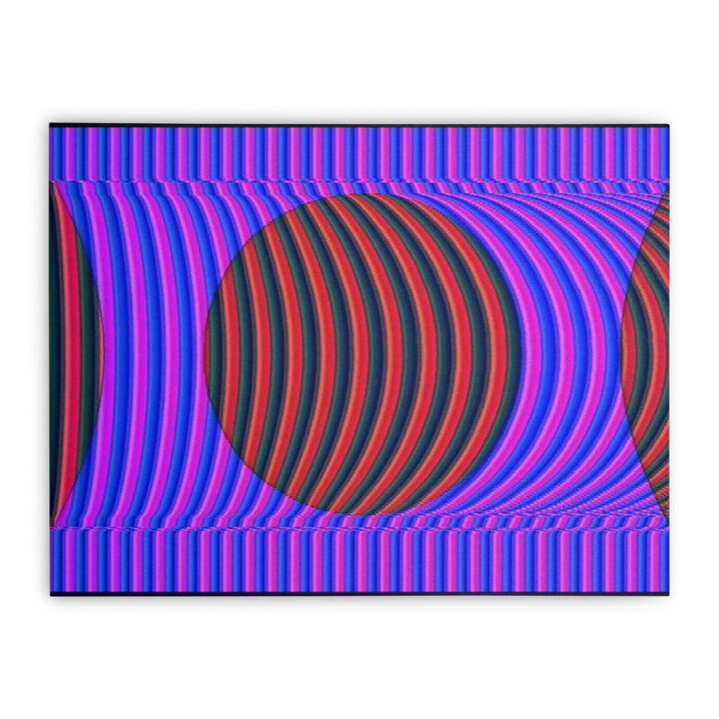 Circle Feedback Home Stretched Canvas by Robotboot Artist Shop