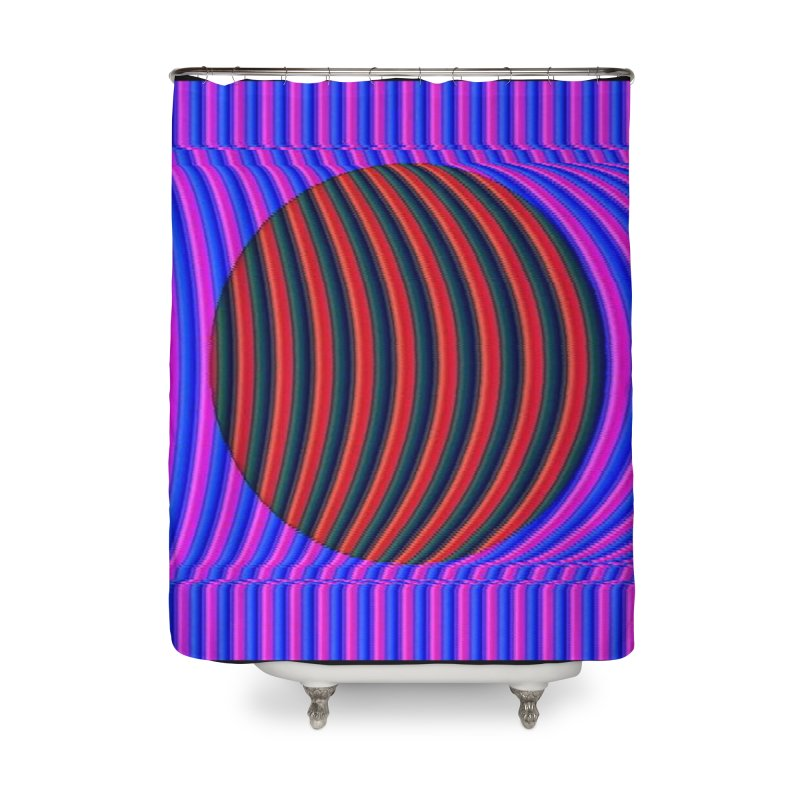 Circle Feedback Home Shower Curtain by Robotboot Artist Shop