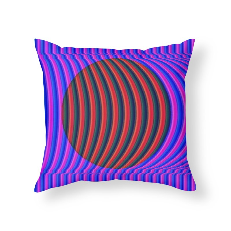 Circle Feedback Home Throw Pillow by Robotboot Artist Shop
