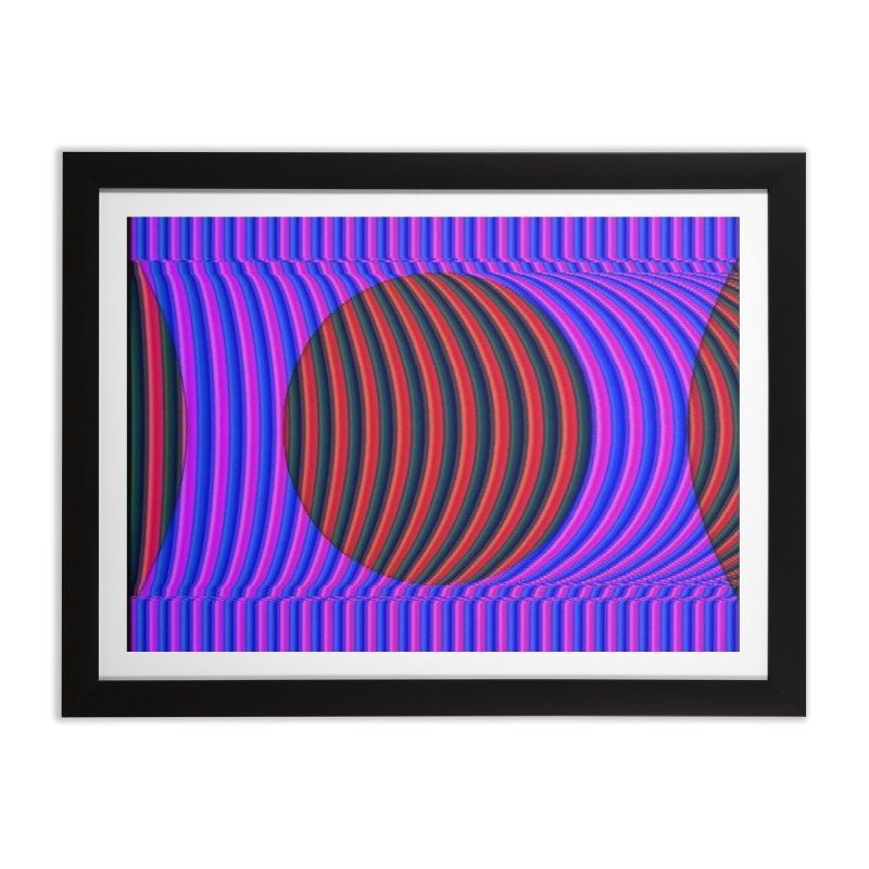 Circle Feedback in Framed Fine Art Print Black by Robotboot Artist Shop