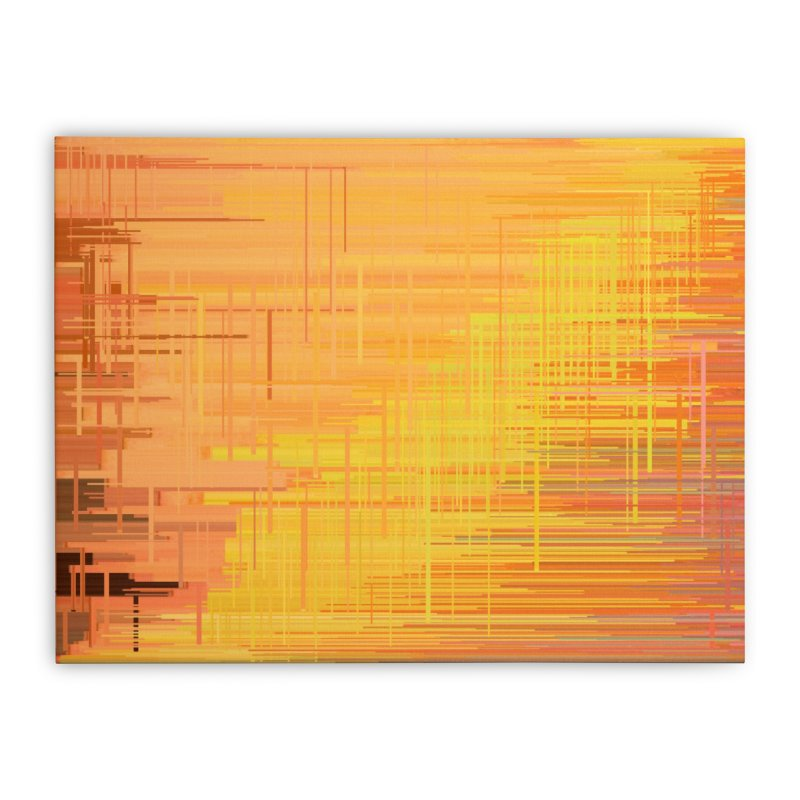 Orangish Home Stretched Canvas by Robotboot Artist Shop