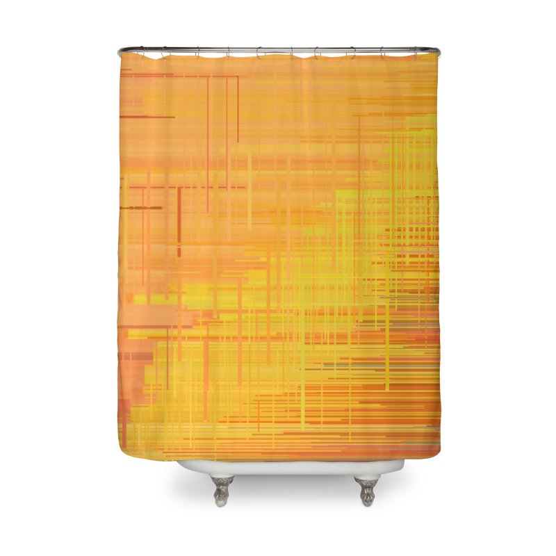 Orangish Home Shower Curtain by Robotboot Artist Shop