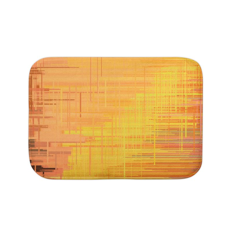 Orangish Home Bath Mat by Robotboot Artist Shop