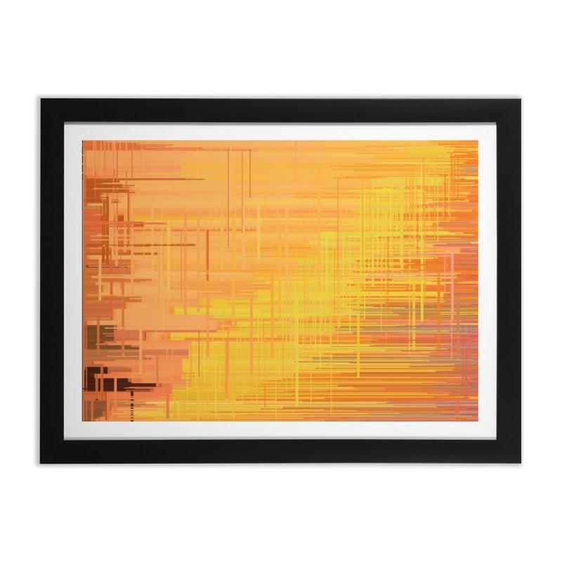 Orangish Home Framed Fine Art Print by Robotboot Artist Shop