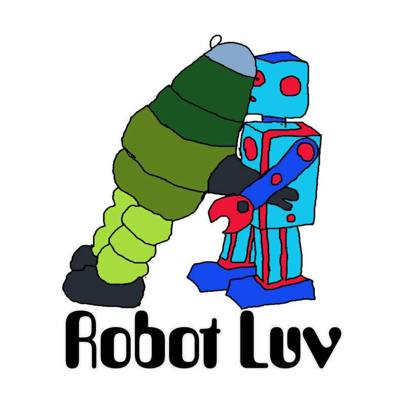 Kissing Robots by robotluv's Artist Shop