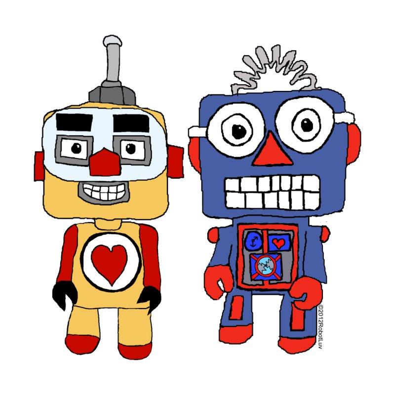 Blockhead Robots by robotluv's Artist Shop
