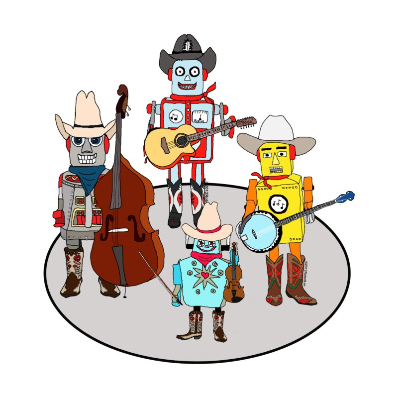 Robot Country Western Band by robotluv's Artist Shop