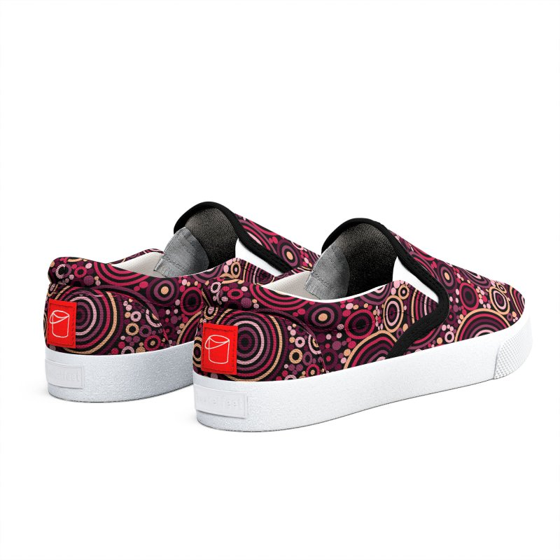 Concentric concentrate (reds) Women's Shoes by Robot Molecule
