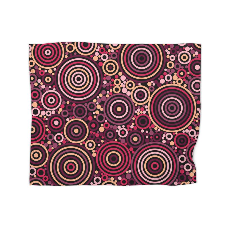 Concentric concentrate (reds) Home Fleece Blanket Blanket by Robot Molecule