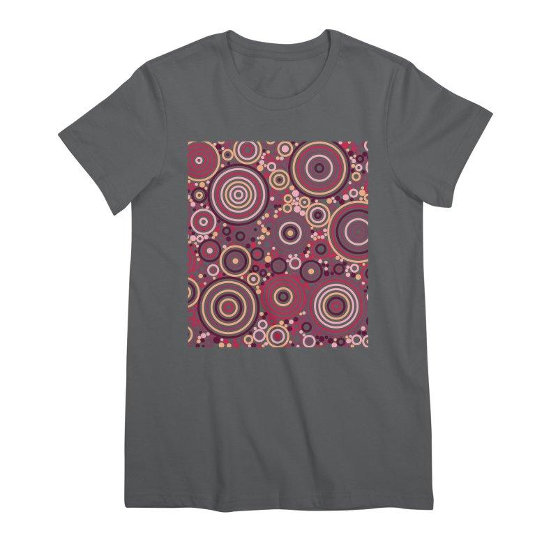 Concentric concentrate (reds) Women's Premium T-Shirt by Robot Molecule