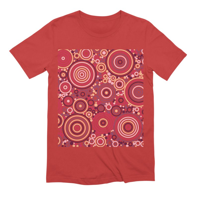 Concentric concentrate (reds) Men's Extra Soft T-Shirt by Robot Molecule
