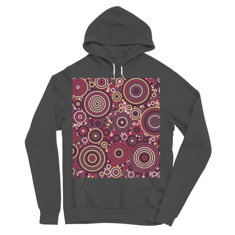 Concentric concentrate (reds) Women's Sponge Fleece Pullover Hoody by Robot Molecule