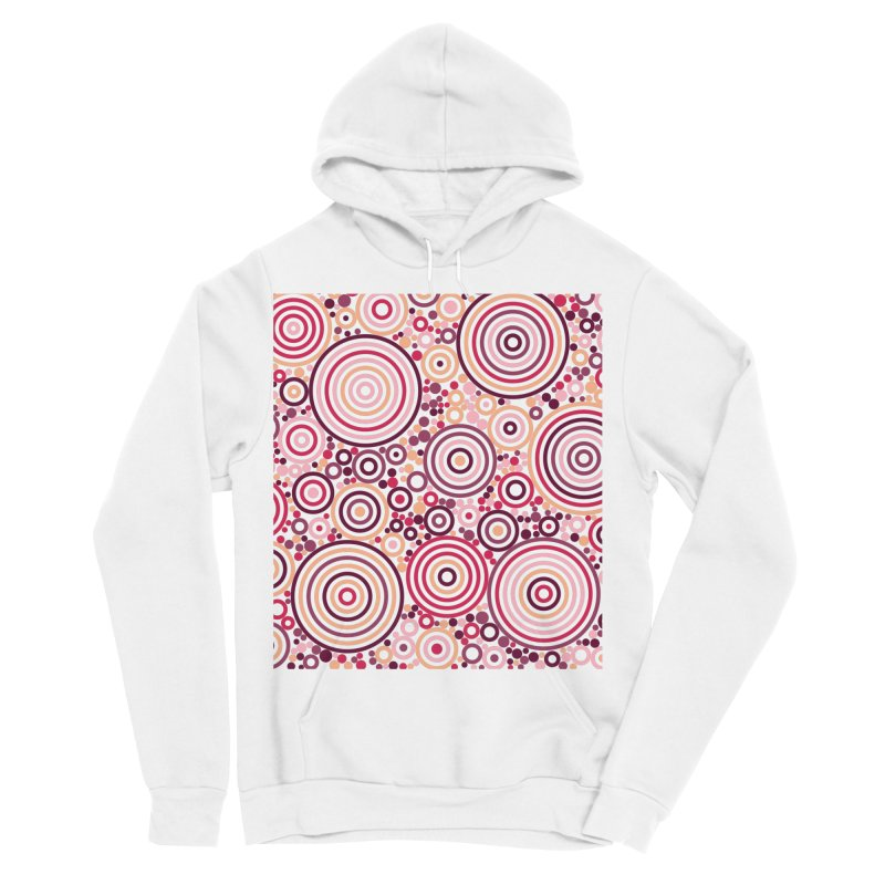 Concentric concentrate (reds) Men's Sponge Fleece Pullover Hoody by Robot Molecule