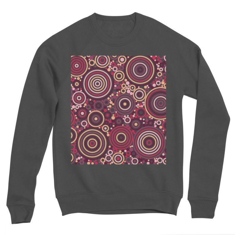 Concentric concentrate (reds) Men's Sponge Fleece Sweatshirt by Robot Molecule
