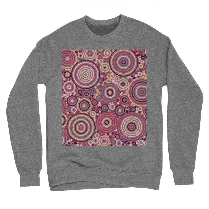Concentric concentrate (reds) Men's Sponge Fleece Sweatshirt by Robot Molecule