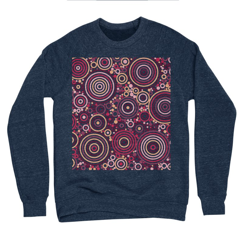 Concentric concentrate (reds) Women's Sponge Fleece Sweatshirt by Robot Molecule