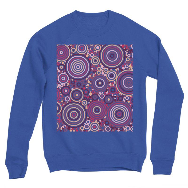 Concentric concentrate (reds) Women's Sponge Fleece Sweatshirt by Robot Molecule