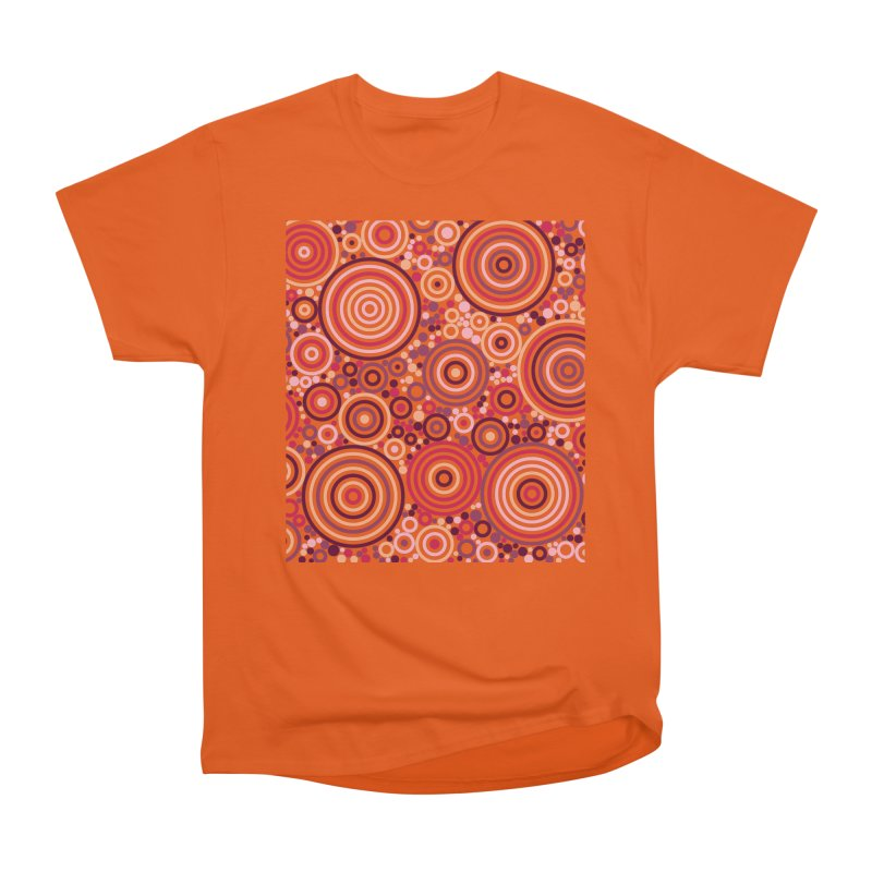 Concentric concentrate (reds) Men's T-Shirt by Robot Molecule